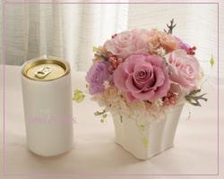 プリザーブドフラワー モーヴカラーのアレンジメント ピンク
