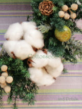 W055 Cottonseed Wreath