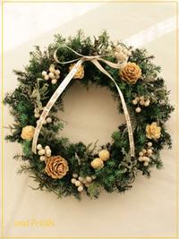 W056 White Nuts Wreath Mini