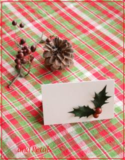 クリスマスミニメッセージカード
