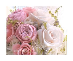 ご両親へ花束贈呈用のプリザーブドフラワー