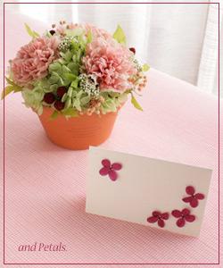 母の日ギフト用ミニメッセージカード