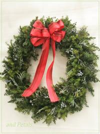 W076 Pure Green Christmas Wreath