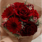 B037 Girly Bouquet Red