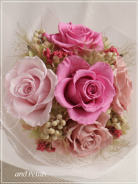 B041 Glam Bouquet Lotus Pink