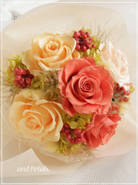 B042 Glam Bouquet Amber Orange