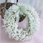 W051 Baby's Breath Wreath Mini