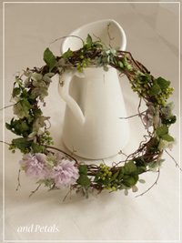 W064 Vine and Bloom Wreath