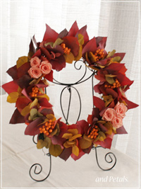 W066 Sunset Color Wreath