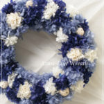 W069 Azure-Blue Wreath