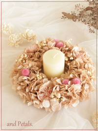 W073 Milk Tea Wreath Mini
