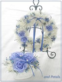 S077 Lapis Lazuli Wreath Set