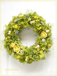 W044 Lightgreen Grass Wreath