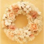 W075 Ecru Beige Wreath