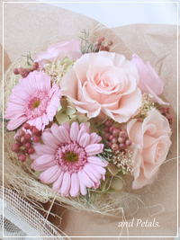 B039 Girly Bouquet Pink
