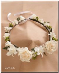 CR003 バラとデンファレのクラウン(花冠)